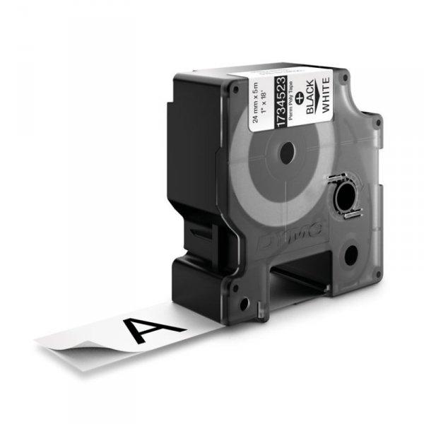 Taśma Poliestrowe Do drukarek DYMO RHINO czarna/biały 1734523 (24mm )