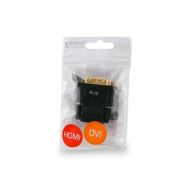 Adapter SAVIO cl-21 (HDMI F - DVI-D M; kolor czarny)