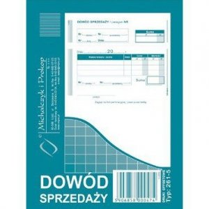 261-5 DS Dowód sprzedaży A6 MICHALCZYK I PROKOP