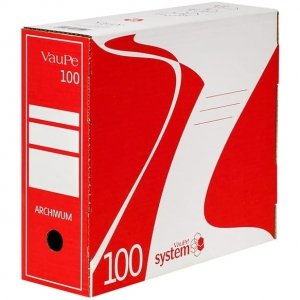Pojemnik do archiwizacji A4/10cm 435/01 czerwony VAUPE