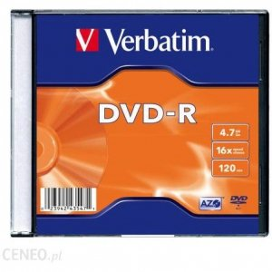 Płyta DVD-R VERBATIM SLIM 4.7GB x16 Matt Silver 43557