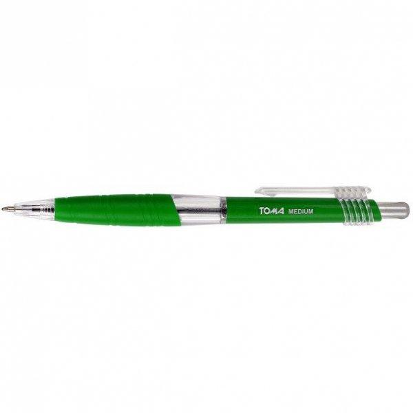Długopisy automatyczny MEDIUM 1.0mm zielony TOMA TO-038