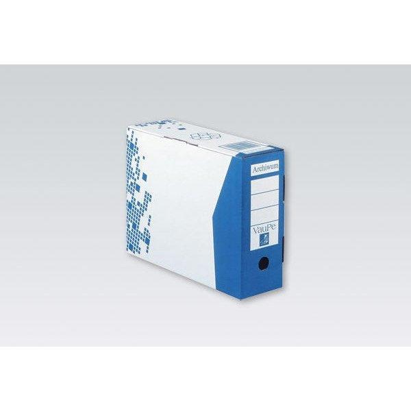 Pojemnik archiwizacyjny A4/10cm 435/03 niebieski VAUPE