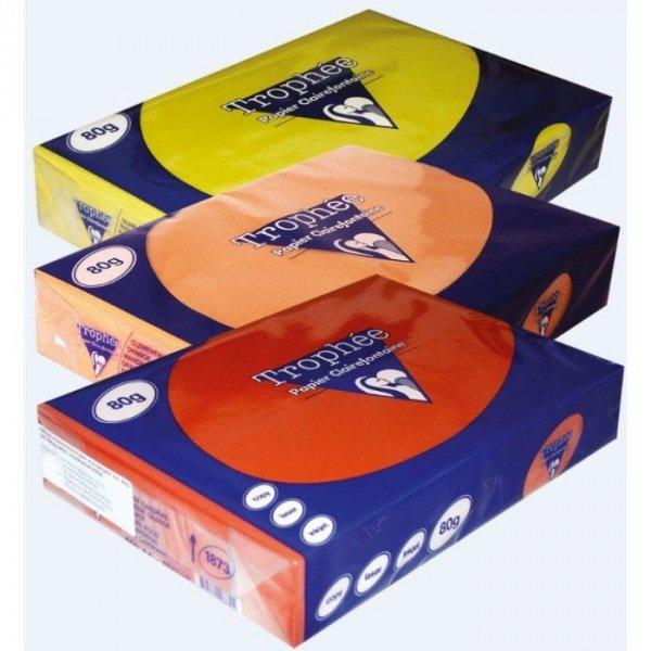 Papier xero A4 80g TROPHEE mandarynkowy XCA41878 CLAIREFONTAINE