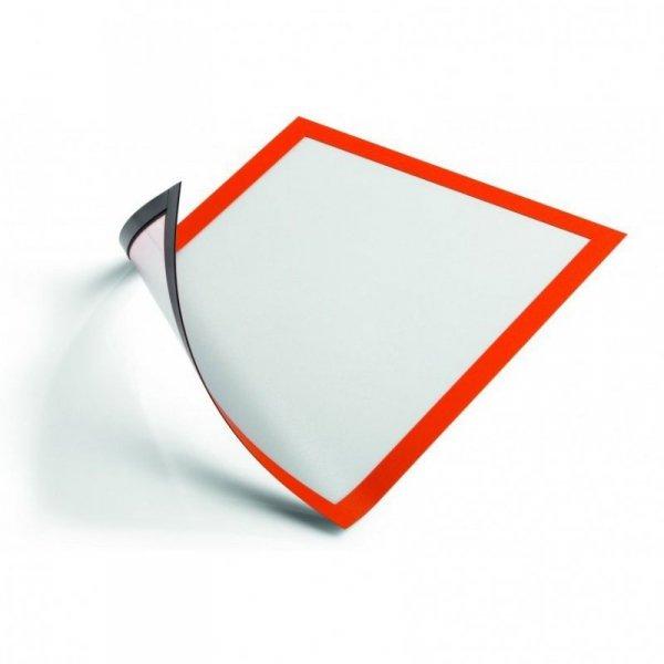 Ramka magnetyczna A4 (5szt) pomarańczowa 486909 DURAFRAME MAGNETIC DURABLE