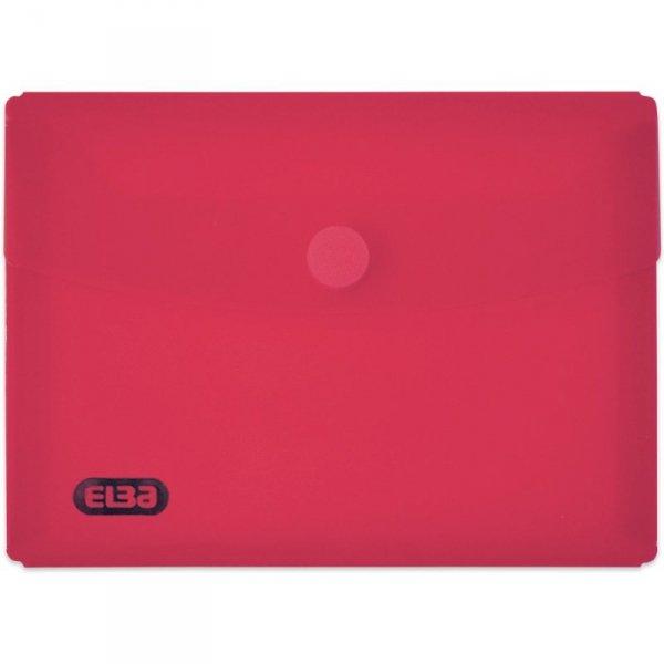 Teczki kopertowe na rzep DL bezbarwne przezroczyste 6szt ELBA 400099549
