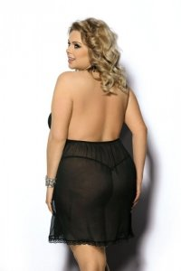 Adola black chemise L+ (czarna halka)