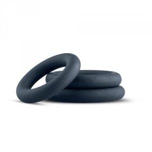 3-Piece Cock Ring Set - Grey