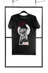 T-shirt men black M regular