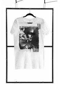T-shirt men white L regular