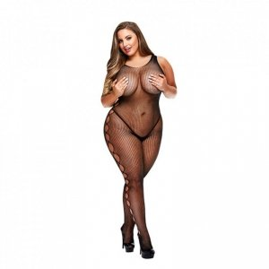 Bodystocking bez ramion - Baci Open Side Sleeveless Bodystocking Queen Size