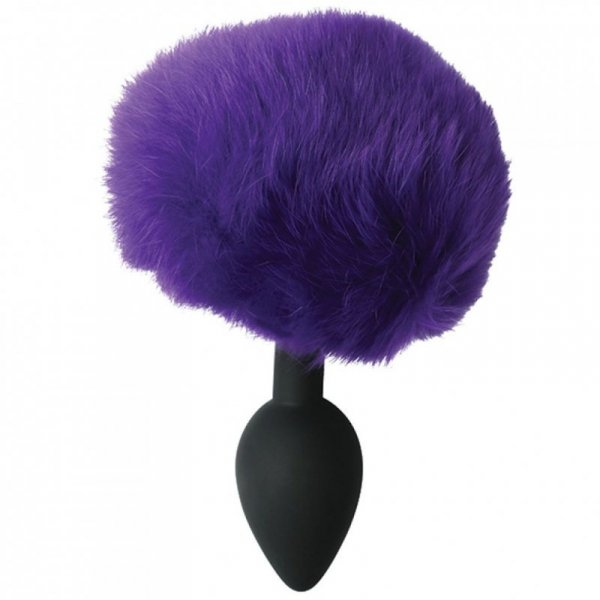 Plug analny - Sportsheets Sincerely Metal Bunny Butt Plug Purple