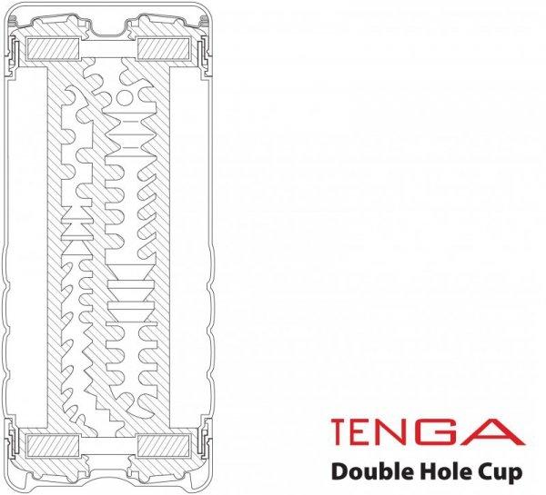 Tenga Double Hole - Masturbator z dwoma dziurami