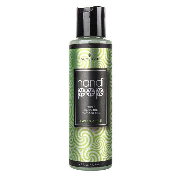 Żel do masażu - Sensuva Handipop Green Apple Hand Job Massage Gel 125 ml