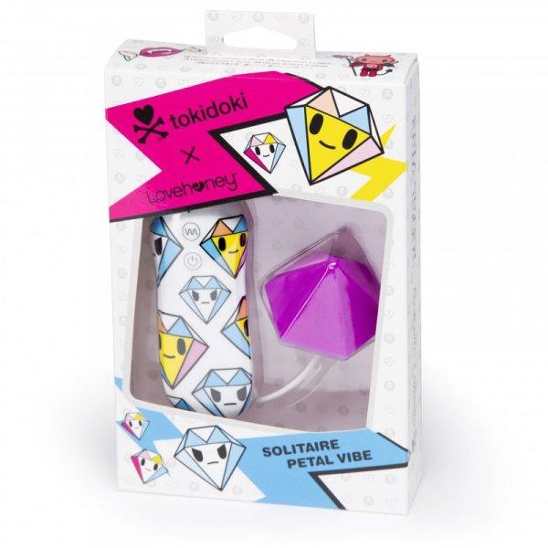 Masażer łechtaczki - Tokidoki Silicone Purple Diamond Clitoral Vibrator