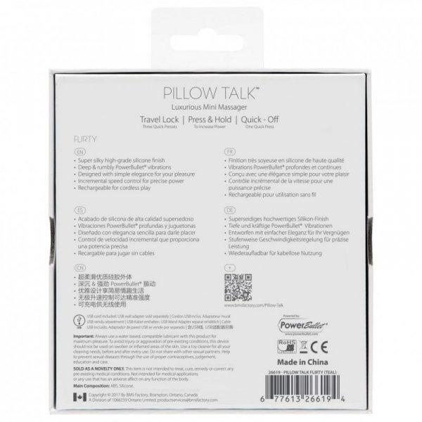 Wibrator - Pillow Talk Flirty Bullet Vibrator Teal