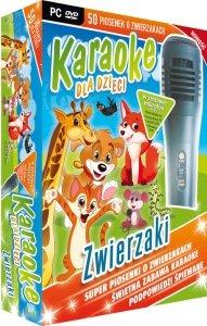 Karaoke dla dzieci Zwierzaki z mikrofonem (PC-DVD)