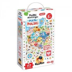 CzuCzu Puzzle obserwacyjne Mapa Polski
