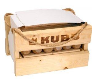 Gra plenerowa KUBB w drewnianej skrzynce