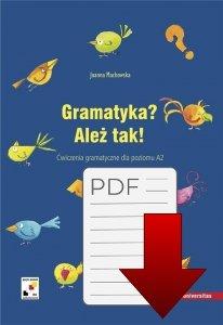 Gramatyka? Ależ tak! Ćwiczenia gramatyczne dla poziomu A2 EBOOK