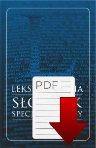 Leksykografia - słownik specjalistyczny (E-BOOK)
