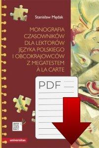 Monografia czasowników dla lektorów języka polskiego i obcokrajowców, z megatestem a la carte EBOOK