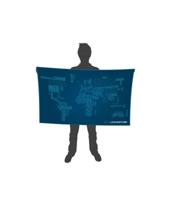 SoftFibre Advance Trek Towel Giant, World in Words