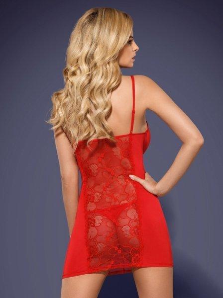 Heartina koszulka i stringi czerwona L/XL