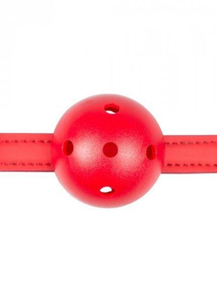 Knebel-Ball Gag With PVC Ball - Red
