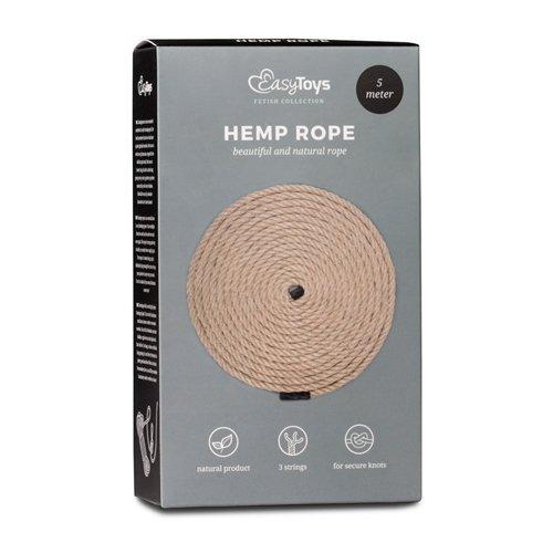 Wiązania-Hemp Bondage Rope 5M
