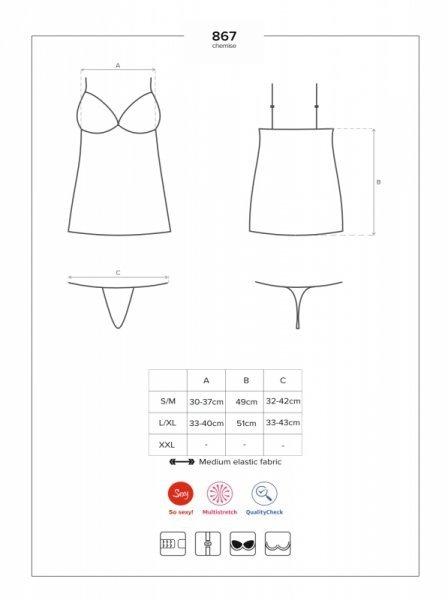 Koszulka i stringi 867 CHE1 L/XL