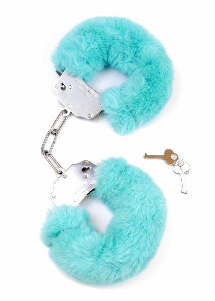 Kajdanki Fetish Boss Series Furry Cuffs Niebieskie