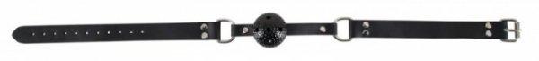 Czarny knebel kula Fetish Collection śr. 4cm