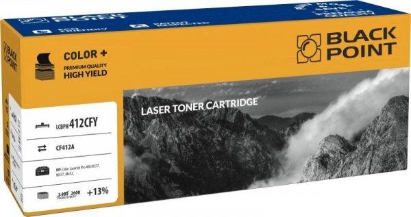 Black Point toner LCBPH412CFY zastępuje HP CF412A, żółty