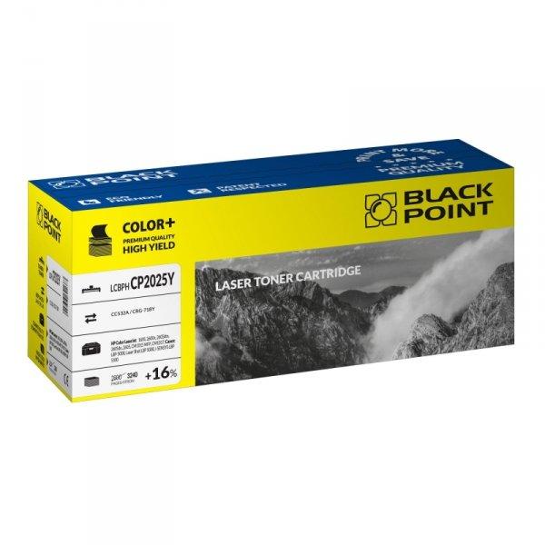Black Point toner LCBPHCP2025Y zastępuje HP CC532A / CRG-718Y, żółty