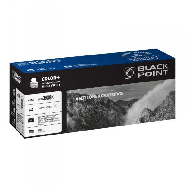 Black Point toner LCBPH3600BK zastępuje HP Q6470A / CRG-711B, czarny