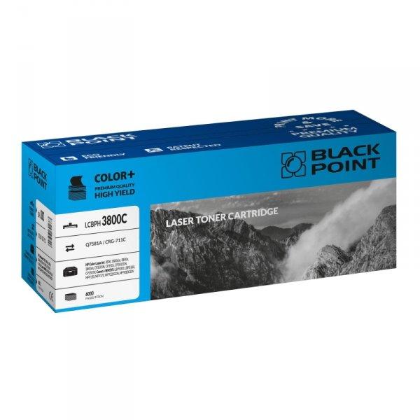 Black Point toner LCBPH3800C zastępuje HP Q7581A / CRG-711C, niebieski