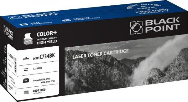 Black Point toner LCBPLC734BK zastępuje Lexmark C734A1KG, czarny