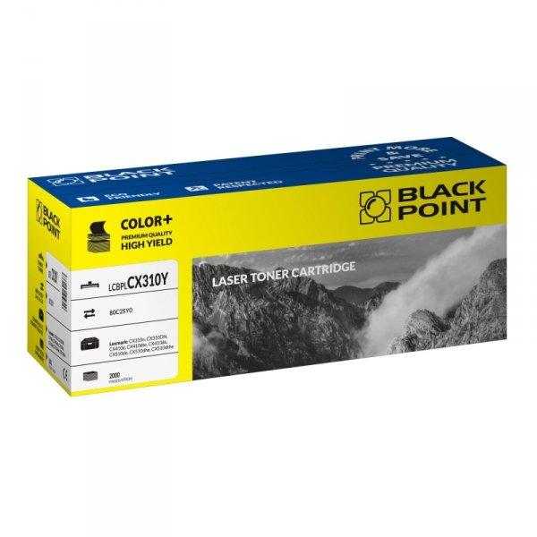 Black Point toner LCBPLCX310Y zastępuje Lexmark 80C2SY0, żółty