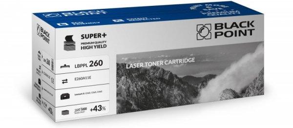 Black Point toner LBPPL260 zastępuje Lexmark E260A11E / E260A21E, 5000 stron