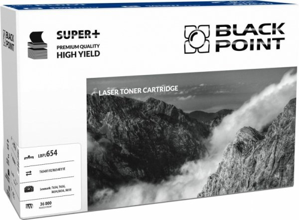 Black Point toner LBPL654 zastępuje Lexmark T654/X654H11E, 36000 stron
