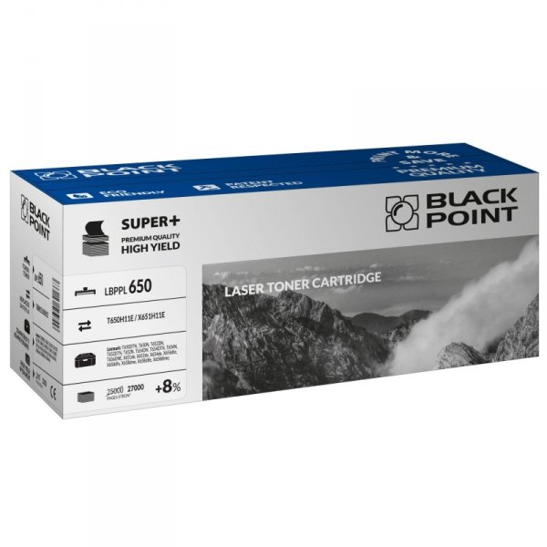 Black Point toner LBPPL650 zastępuje Lexmark T650H11E, 27000 stron