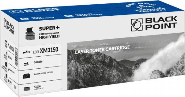 Black Point toner LBPLXM3150 zastępuje Lexmark 24B6186, 16000 stron
