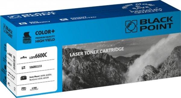 Black Point toner LCBPX6600C zastępuje Xerox 106R02233, niebieski