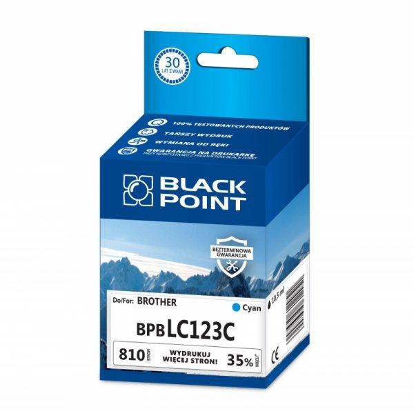 Black Point tusz BPBLC123C zastępuje Brother LC123C, niebieski