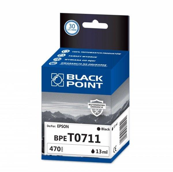 Black Point tusz BPET0711 zastępuje Epson T0711, czarny
