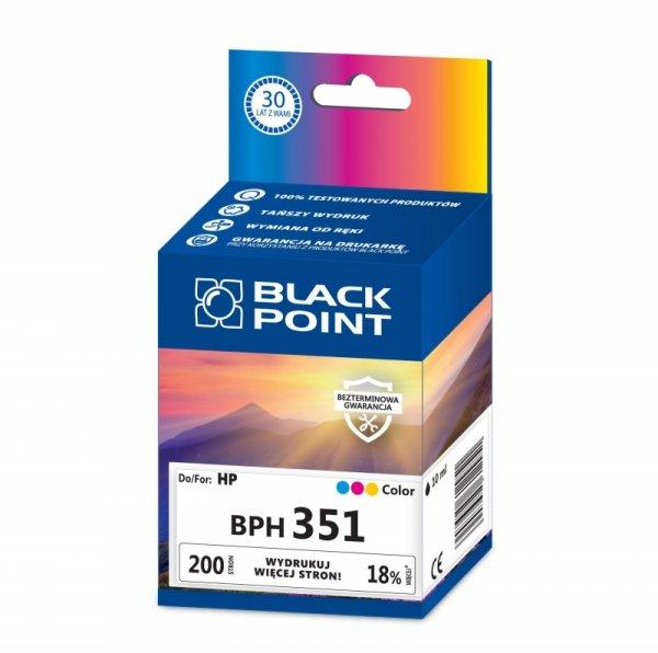 Black Point tusz BPH351 zastępuje HP CB337EE, trójkolorowy