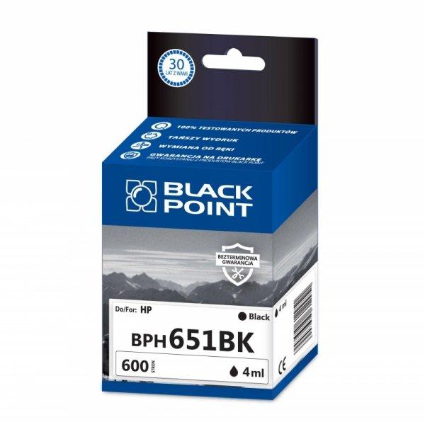 Black Point tusz BPH651BK zastępuje HP C2P10AE, black