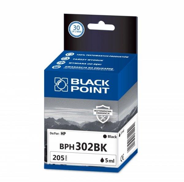 Black Point tusz BPH302BK zastępuje HP F6U66AE, czarny