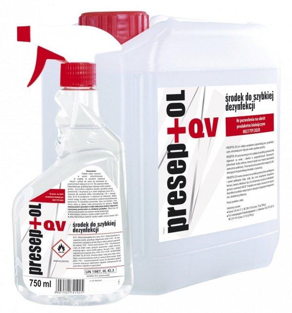 PRESEPTOL QV 5L - produkt biobójczy do szybkiej dezynfekcji powierzchni